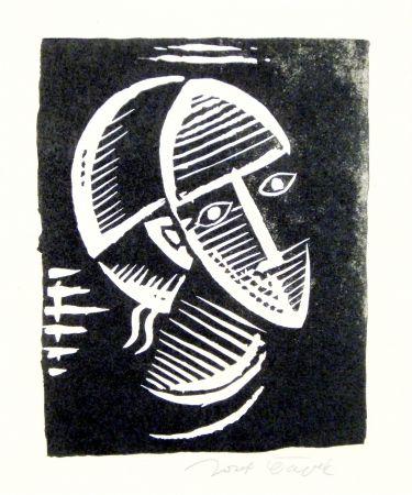 Linogravure Capek - Maske (Mask)