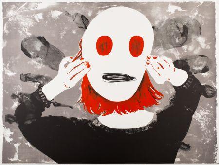 Lithographie Pétrovitch - Masque
