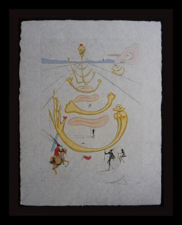 Gravure Dali - Masque de la Mort