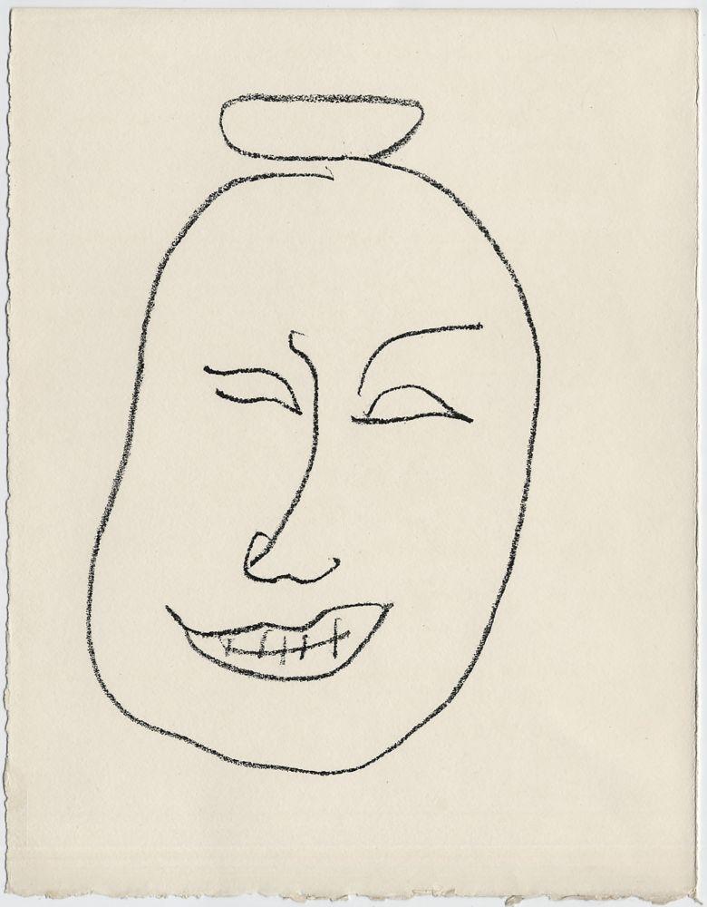 Lithographie Matisse - Masque esquimo n° 8. 1947 (Pour Une Fête en Cimmérie)