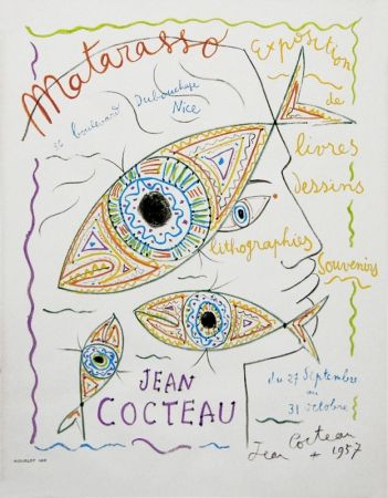 Lithographie Cocteau - Matarasso (Gallery exhibition poster)