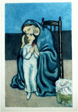 Aquatinte Picasso - Maternité