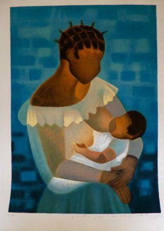 Lithographie Toffoli - Maternité