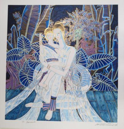 Lithographie Ting - Maternité