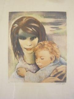 Gravure Lydis - Maternité