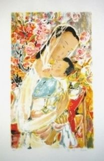 Lithographie Lê Phô - Maternité