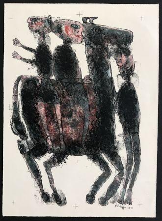 Lithographie Dubuffet - Matiere et Memoire (ou les lithographes a l'ecole)