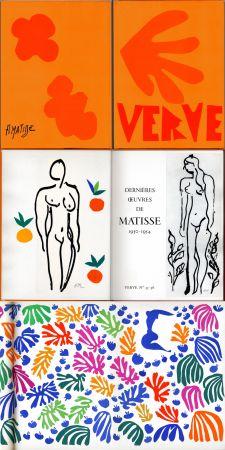 Livre Illustré Matisse - Matisse dernières oeuvres 1950 - 1954 (VERVE Vol. IX, No. 35-36. 1958)