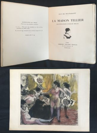 Livre Illustré Degas - Maupassant: LA MAISON TELLIER. Illustrations d'Edgar Degas (1934).