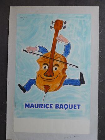Affiche Savignac - Maurice Baquet violonceliste