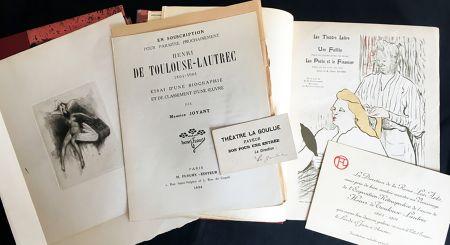 Livre Illustré Toulouse-Lautrec - Maurice Joyant. HENRI DE TOULOUSE-LAUTREC, 1864-1901. [Vol. 1] Peintre - [Vol. 2] Dessins-Estampes-Affiches. (Exemplaire sur Japon avec suites et pièces ajoutées)