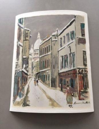 Aucune Technique Utrillo - Maurice Utrillo - A pochoir from Montmartre Village Inspire Series