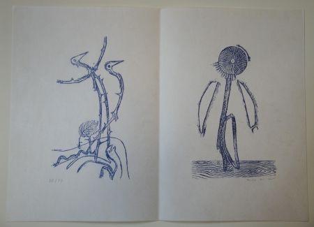 Livre Illustré Ernst - Max Ernst - Jean Tardieu. 24 Frottagen