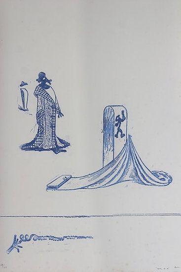 Lithographie Ernst - Max Ernst (1891-1976). Décervelages, Jarry. 1971. Signé