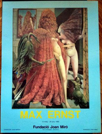 Affiche Ernst - Max Ernst Fundació Miró 1986