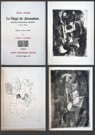 Livre Illustré Picasso - Max Jacob. LE SIÈGE DE JÉRUSALEM. 3 eaux-fortes cubistes de Picasso (1914).