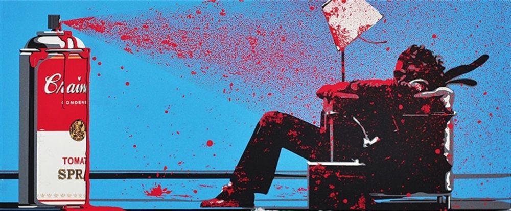 Sérigraphie Mr Brainwash - Max Spray