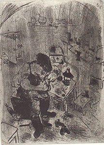 Eau-Forte Chagall - Maxime Teliatnikov, Savetier