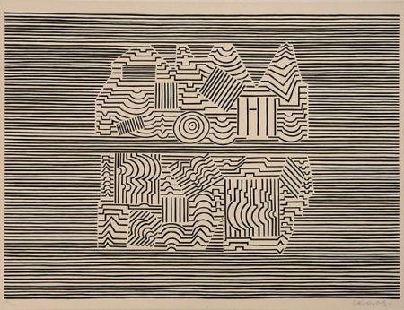 Sérigraphie Vasarely - Meandre