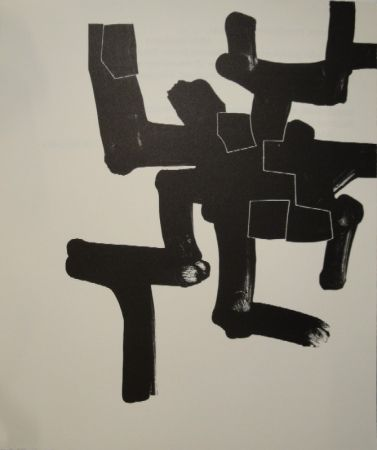 Lithographie Chillida - Meditation in Kastilien.