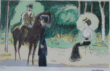Lithographie Van Dongen - Meeting in the woods