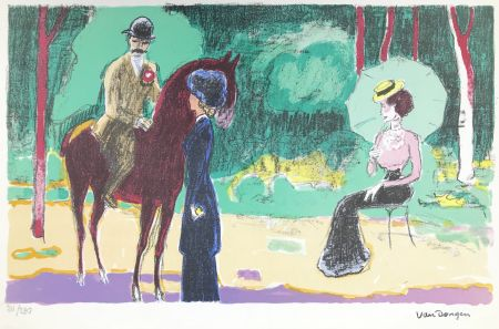 Lithographie Van Dongen - Meeting in the woods