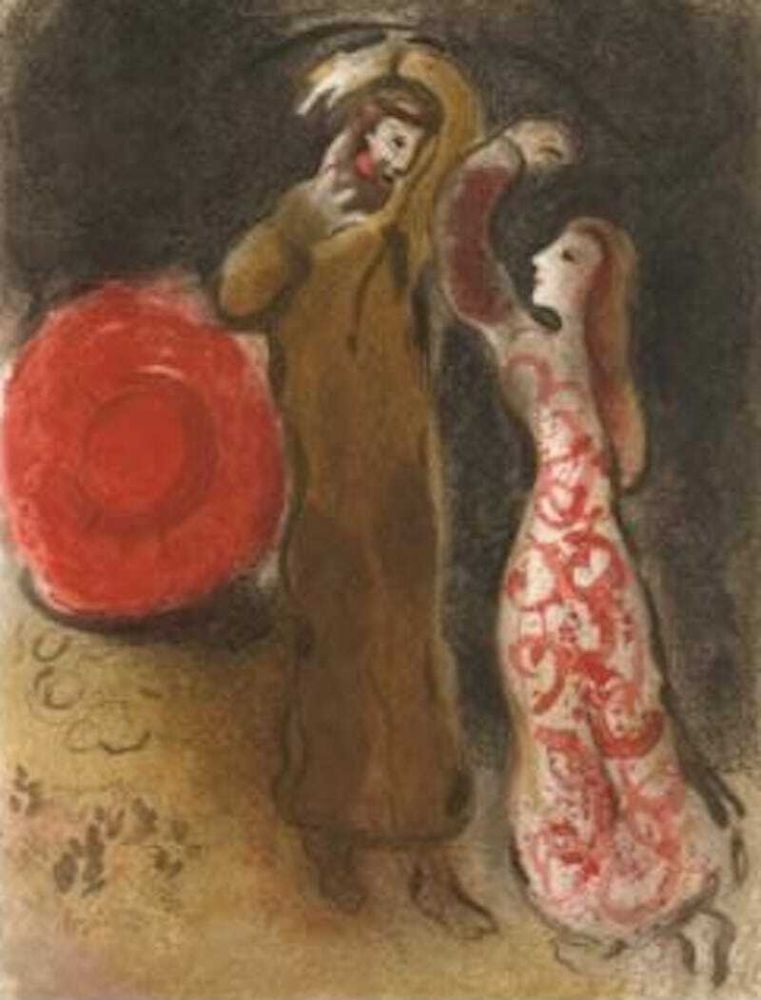 Lithographie Chagall - Meeting of Ruth and Boaz M.247