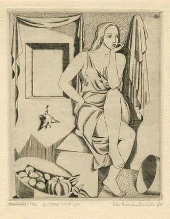 Eau-Forte Buckland-Wright - Melancholie
