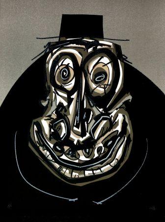 Lithographie Saura - Melanchton I, Une chaire d'ombre