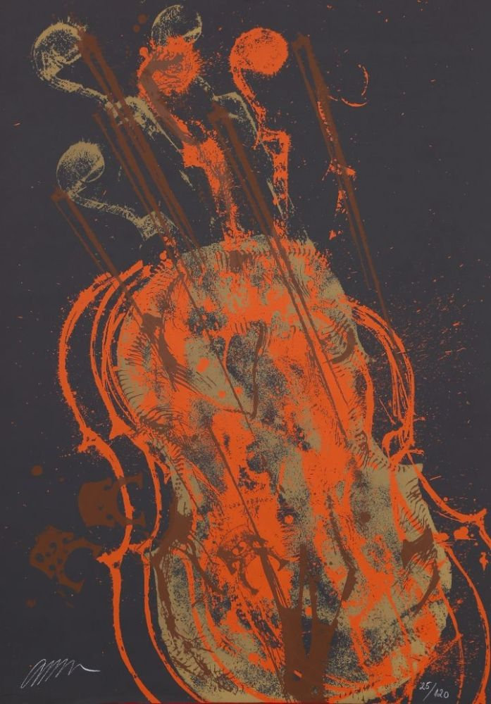 Lithographie Arman - Melody for strings