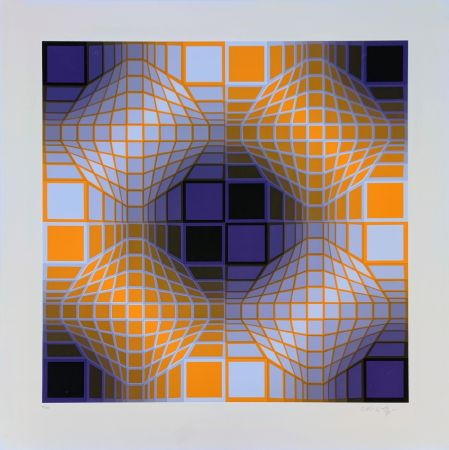 Sérigraphie Vasarely - Mely