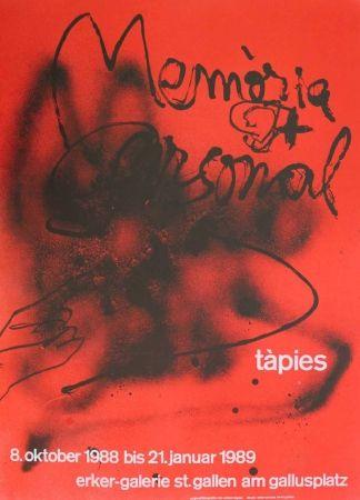 Lithographie Tàpies - Memòria personal