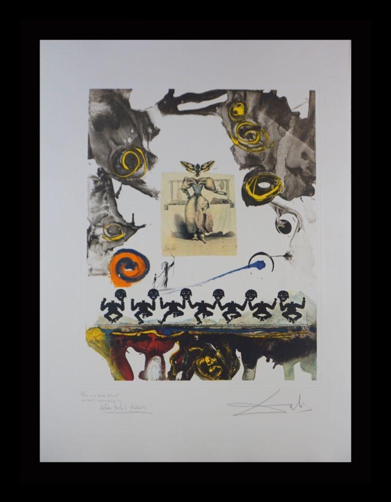 Gravure Dali - Memories of Surrealism Surrealist Gastronomy Trial Proof