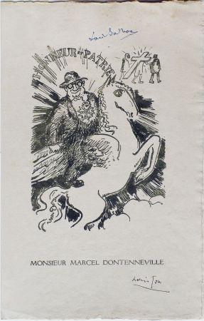 Lithographie Van Dongen - Menu