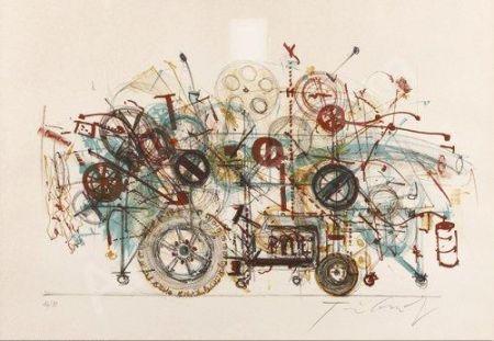 Lithographie Tinguely - Meta-Machine