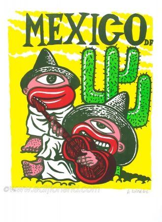 Lithographie Di Rosa - Mexico