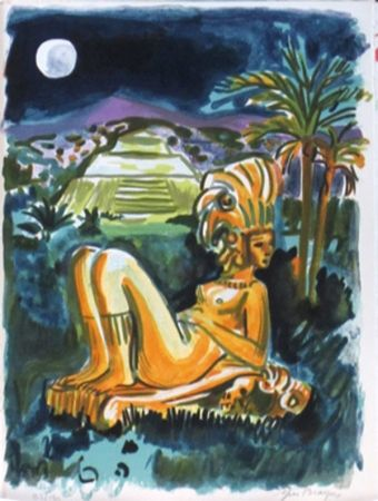 Lithographie Brayer - Mexique