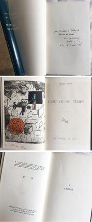 Livre Illustré Matta - Michel Butor. L'EMPLOI DU TEMPS (1 des 40 avec l'eau-forte rehaussée de Matta) 1956.