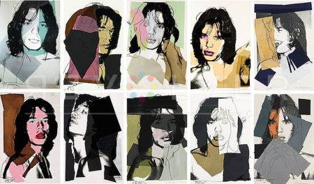 Sérigraphie Warhol - Mick Jagger Complete Portfolio