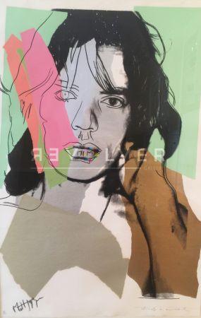 Sérigraphie Warhol - Mick Jagger (Fs Ii.140)