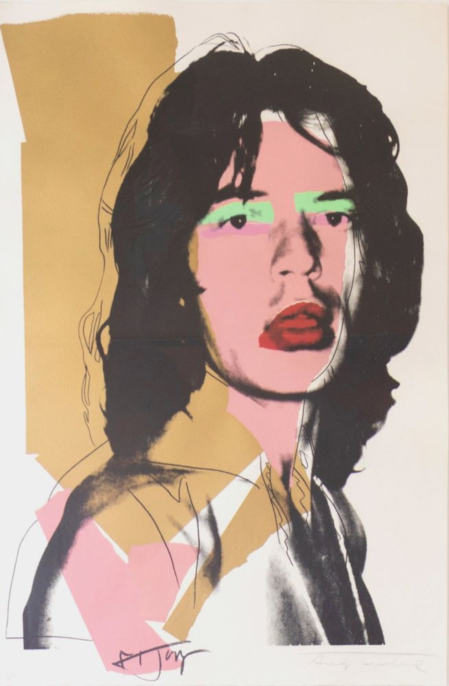 Sérigraphie Warhol - Mick Jagger (FS II.143)