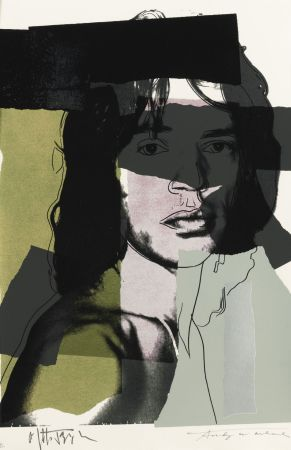 Sérigraphie Warhol - Mick Jagger, Green (FS II.145)