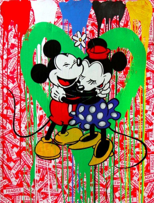 Multiple Mr. Brainwash - Mickey & Minnie