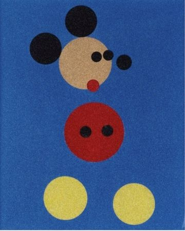 Sérigraphie Hirst - Mickey Mouse Glitter Print by Damien Hirst