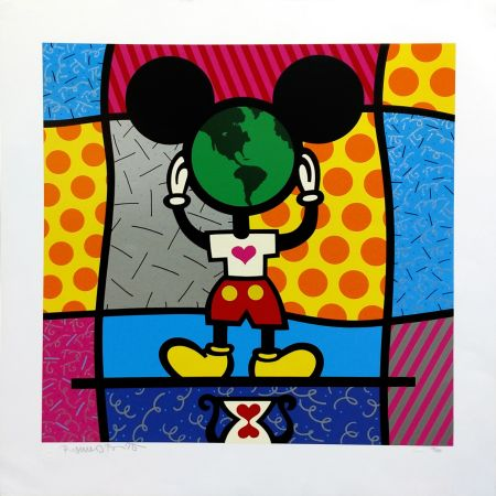 Sérigraphie Britto - MICKEY'S WORLD
