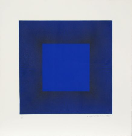 Eau-Forte Et Aquatinte Anuszkiewicz - Midnight Suite (Blue with Black)