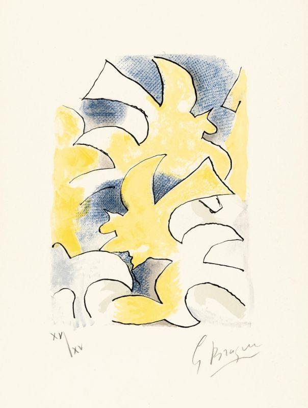 Lithographie Braque - Migration