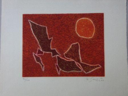 Aquatinte Singier - Migration solaire