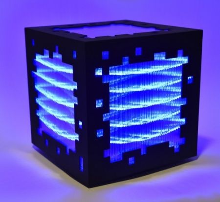 Gravure Sur Bois Chevalier - Mini voxels light blue