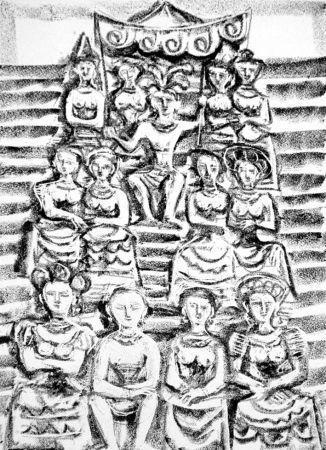 Lithographie Campigli - Minosse
